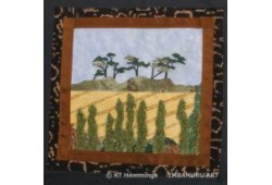 [Easter Hill textile square from the Parish wall hanging,Cockwood,Devon,UK]