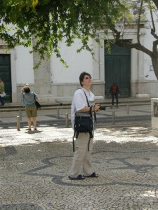 [KT Hemmings on location in Faro, Algarve, Portugal.]